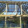 Обрешетку крыши сделал из доски 25×100