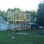 Вот уже начал делать стропильную систему крыши.