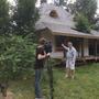 ТВ 1  канал снимает передачу о доме. Крыша из осиновой дранки - как в Кижах, только предки гвозди для крепежа деревянные делали, а мы оцинкованными пользуемся. Правда, каждый гвоздик затупить нужно, иначе дранка треснет.