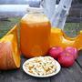 Тыквенный сок. В него при переработке тоже желательно добавить лимон или апельсин.