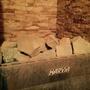 Печка Harvia с камнем Жадеитом. Вокруг - искусственный камень. Баня нагревается до 80 градусов за 1,5 часа.