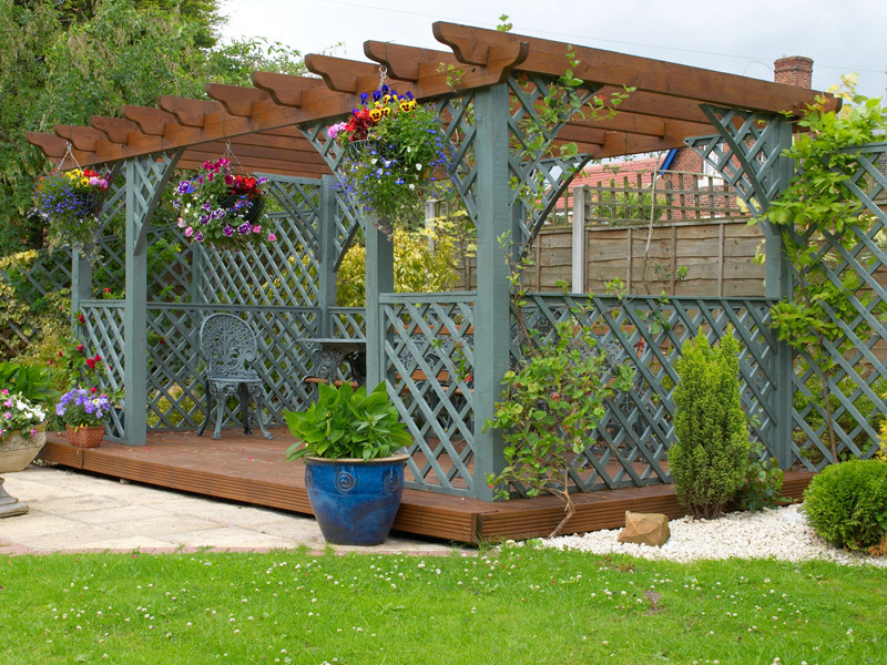 for Exemple de pergola en bois